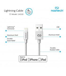 کابل شارژ و انتقال اطلاعات Naztech Lightning