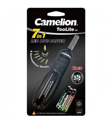 چراغ قوه T551 با پیچ گوشتی Camelion