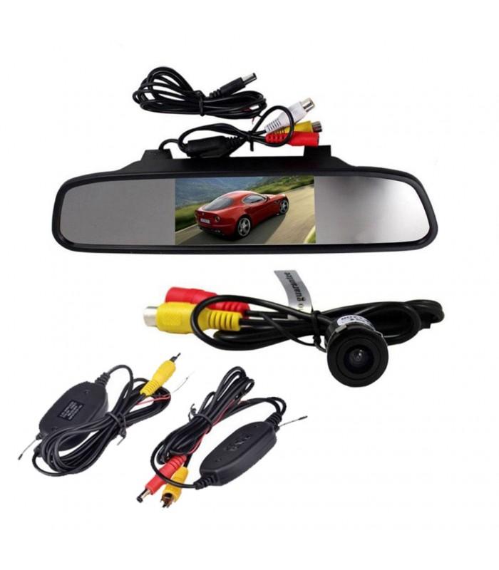 مانیتور آینه ای ۴٫۳ اینچ و دوربین دنده عقب بی سیم
