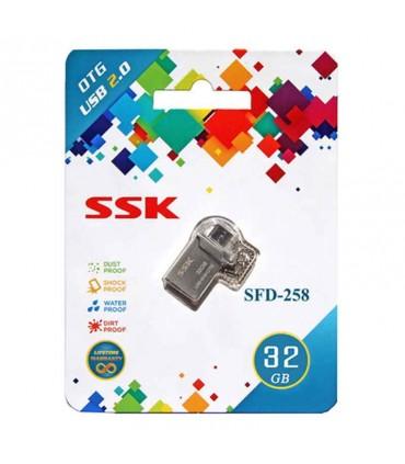 فلش مموری 32 گیگابایت SSK SFD258 OTG
