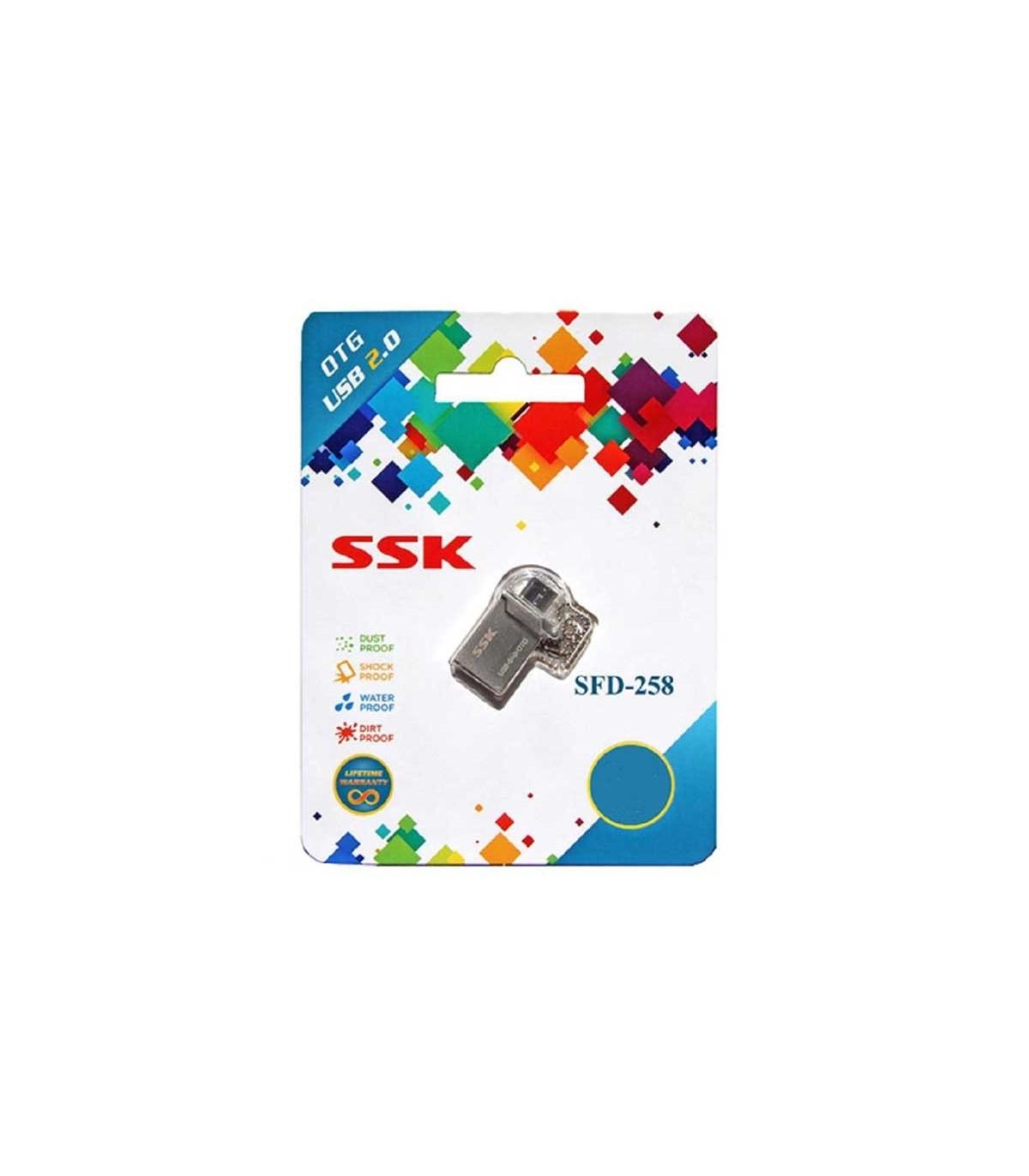 فلش مموری 8 گیگابایت SSK SFD258 OTG