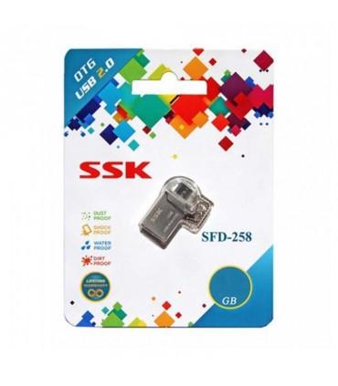 فلش مموری 16 گیگابایت SSK SFD258 OTG