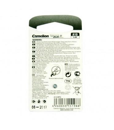 باتری سمعکی کملیون A10-BP6