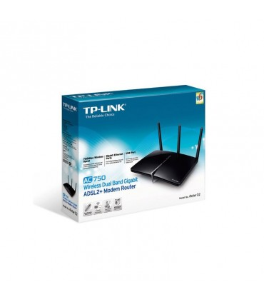 مودم روتر +TP-LINK Archer D2 AC750 Wireless Dual Band Gigabit ADSL2