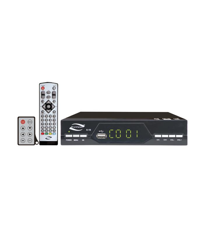 گیرنده دیجیتال تلویزیونی PROVISION X-10T2 با دو کنترل