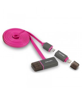 کابل تبدیل Fujipower Cable 1m USB to microUSB / Lightning With USB Hub
