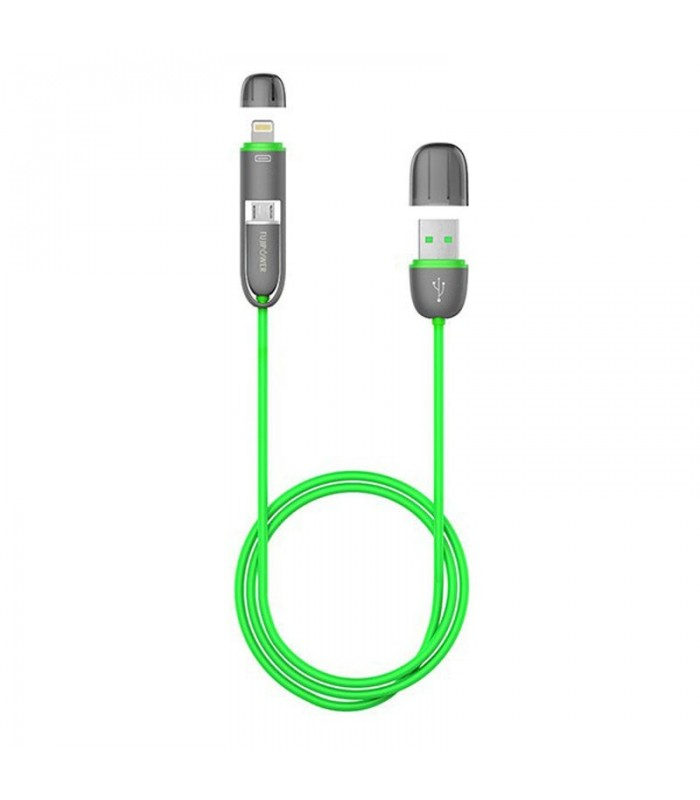 کابل تبدیل Fujipower Cable USB to microUSB / Lightning