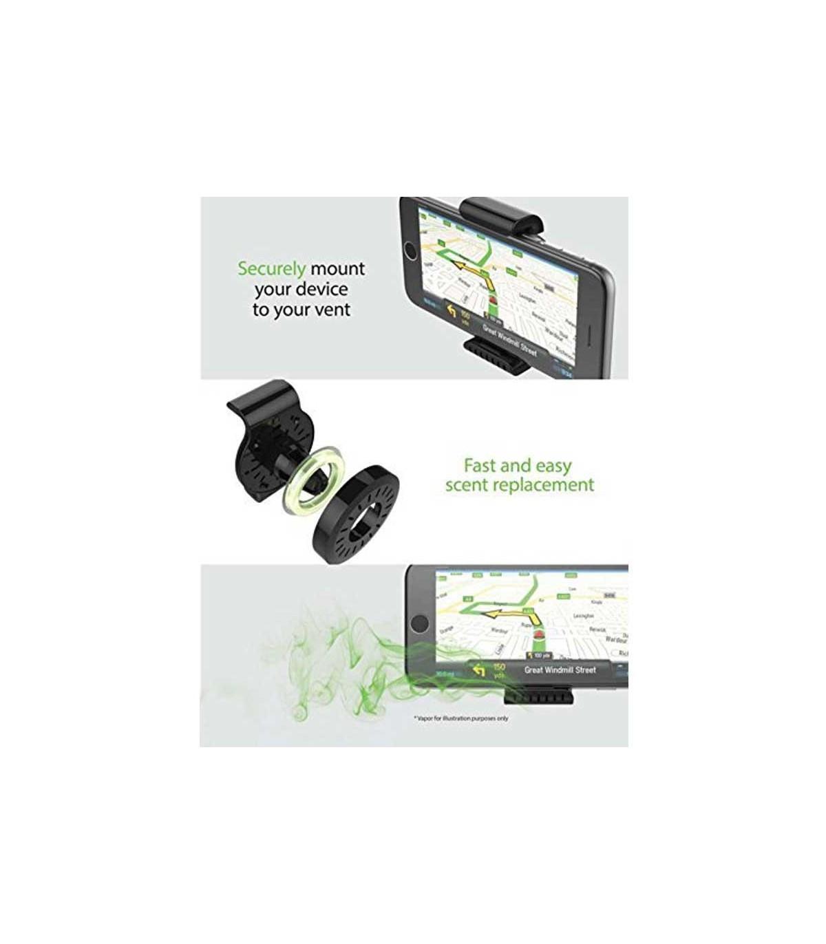 پایه نگهدارنده گوشی وخوشبو کننده خودرو Freshtech