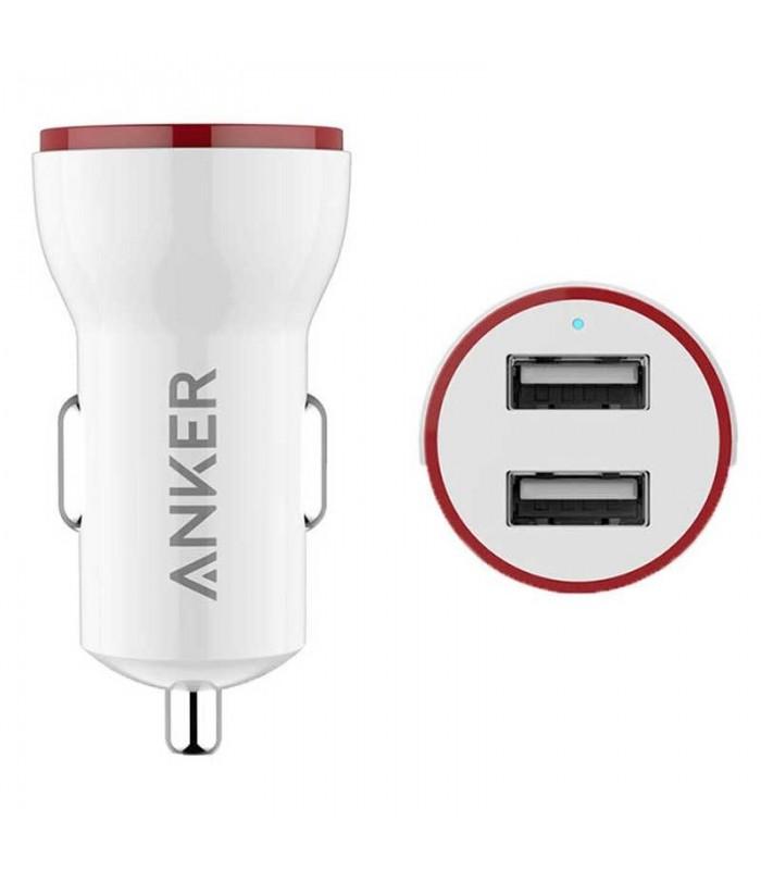 شارژر فندکی داخل خودرو Anker PowerDrive 2-Port Lite USB