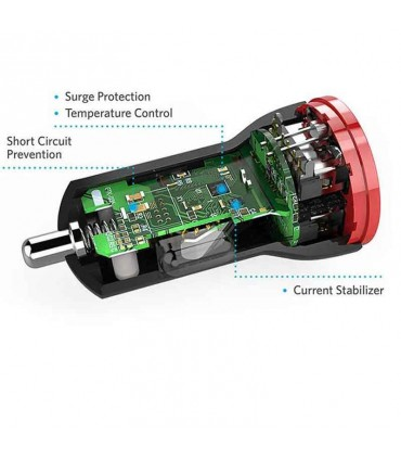 شارژر فندکی داخل خودرو Anker PowerDrive 2-Port USB