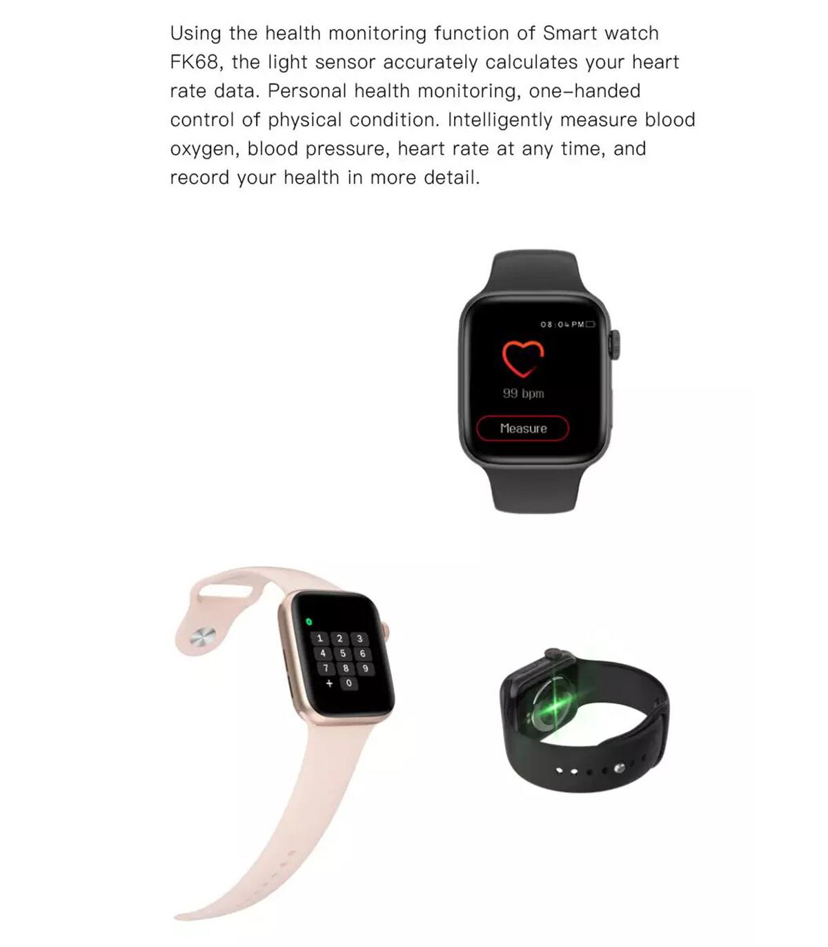 ساعت هوشمند fk68